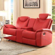 Talbot Double Glider Reclining Loveseat (Red)