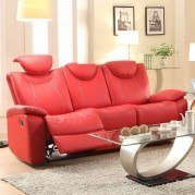 Talbot Double Reclining Sofa (Red)