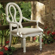 Summer Hill Pierced Back Arm Chair (Cotton) (Set of 2)