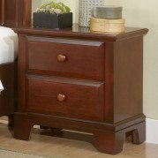 Hamilton Franklin Two Drawer Nightstand (Cherry)