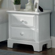 Hamilton Franklin Two Drawer Nightstand (Snow White)