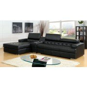 Floria Sectional w/ Optional Console (Black)