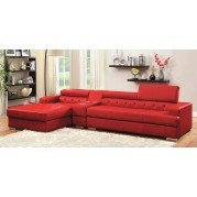 Floria Sectional w/ Optional Console (Red)