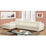 Floria Sectional w/ Optional Console (White)