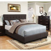 Dillan Upholstered Bed (Gray)
