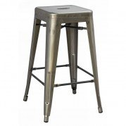 Stovall 26 Inch Metal Dining Stool (Set of 4)