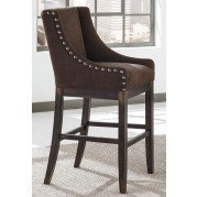 Moriann Tall Brown Wing Back Barstool (Set of 2)