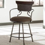 Moriann Swivel Metal Barstool