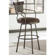 Moriann Tall Swivel Metal Barstool