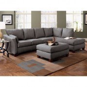 Drew Right Facing Chaise Sectional (Charcoal)