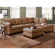 Drew Right Facing Chaise Sectional (Chocolate)