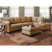 Drew Right Facing Chaise Sectional (Dark Brown)