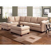 Drew Left Facing Chaise Sectional (Khaki)