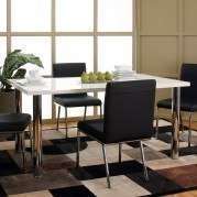 Mira White Top Rectangular Dining Table