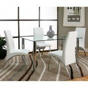 Napoli Dining Room Set w/ White Mensa Chairs