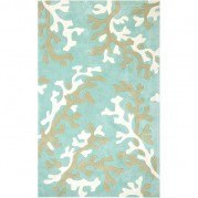 Fusion Coral Fixation FN06 Turquoise Blue/White Area Rug