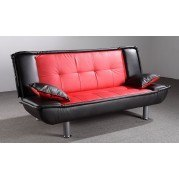 G136 Sofa Bed (Black and Red)
