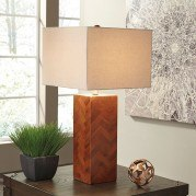Tabeal Wood Table Lamp (Brown)
