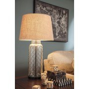 Sharmayne Glass Table Lamp (Transparent)