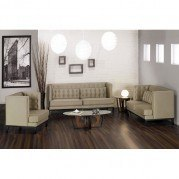 Noho Living Room Set (Champagne Fabric)