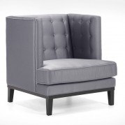 Noho Arm Chair (Silver Satin Fabric)