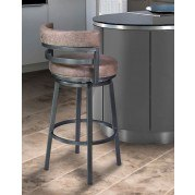 Madrid Counter Height Swivel Barstool (Mineral / Tobacco)