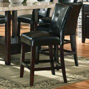 Monarch Counter Parsons Chair (Black) (Set of 2)