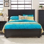 Diego Panel Bed (Black)