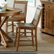 Willow Upholstered Counter Height Chair (Set of 2) (Distressed Pine)