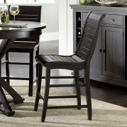 Willow Counter Height Chair (Set of 2) (Distressed Black)