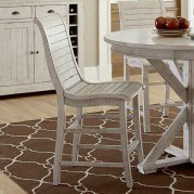 Willow Counter Height Chair (Set of 2) (Distressed White)