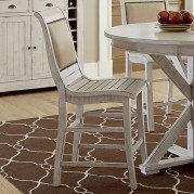 Willow Upholstered Counter Height Chair (Set of 2) (Distressed White)