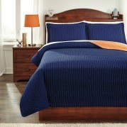 Dansby Navy/Orange Youth Coverlet Set
