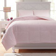 Plainfield Soft Pink Youth Comforter Set