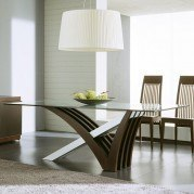 Mirage Clear Glass Dining Table