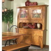 Rustic Traditions China w/ Hutch