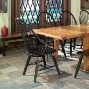 Rustic Traditions Windsor Arm Chair (Black) (Set of 2)