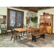 Rustic Traditions Dining Room Set w/ Two-Tone Chairs
