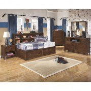 Delburne Bookcase Bedroom Set