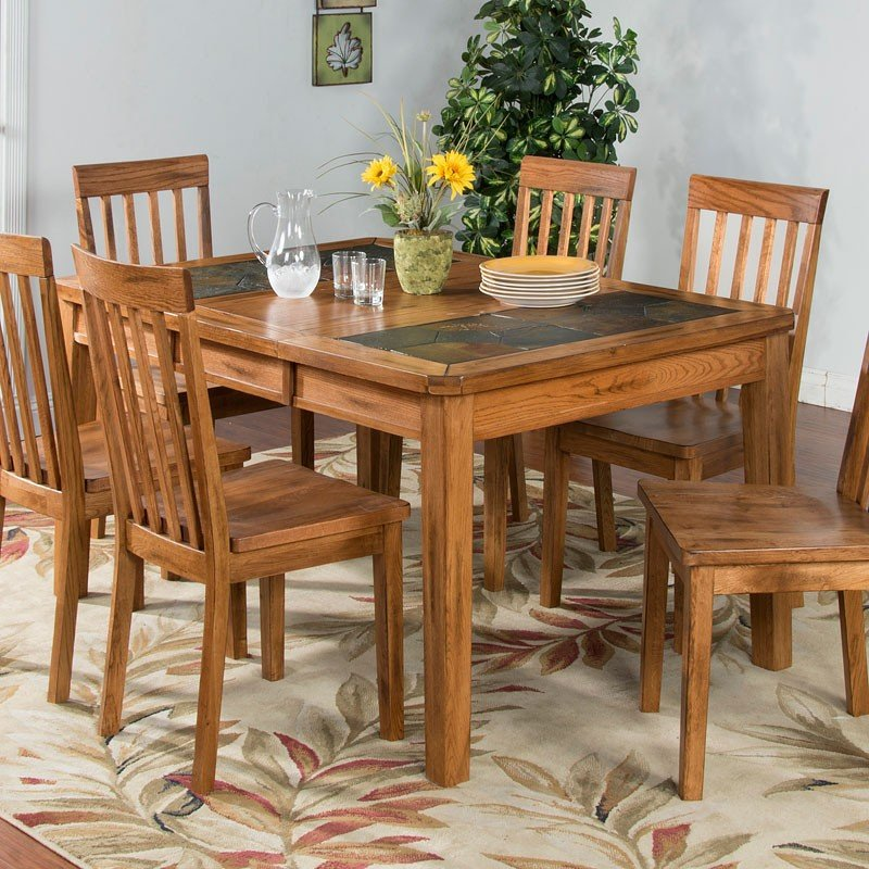 Sedona Slate Top Extension Dining Table Sunny Designs