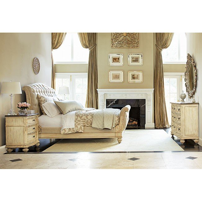 Jessica Mcclintock The Boutique Sleigh Bedroom Set White