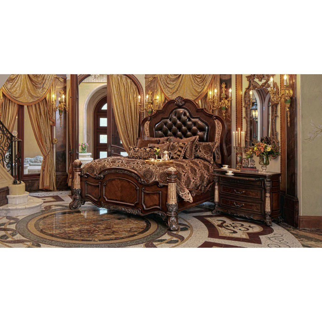 Victoria Palace Panel Bedroom Set From Aico 61000ekbed3: Victoria Palace Panel Bedroom Set Aico Furniture