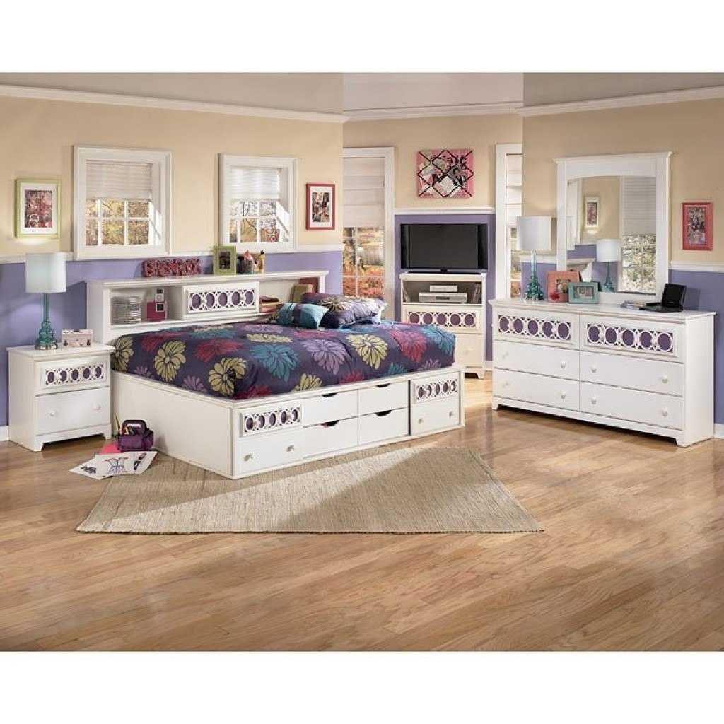 Zayley Bookcase Bedroom Set Signature Design 2 Reviews Furniture Cart