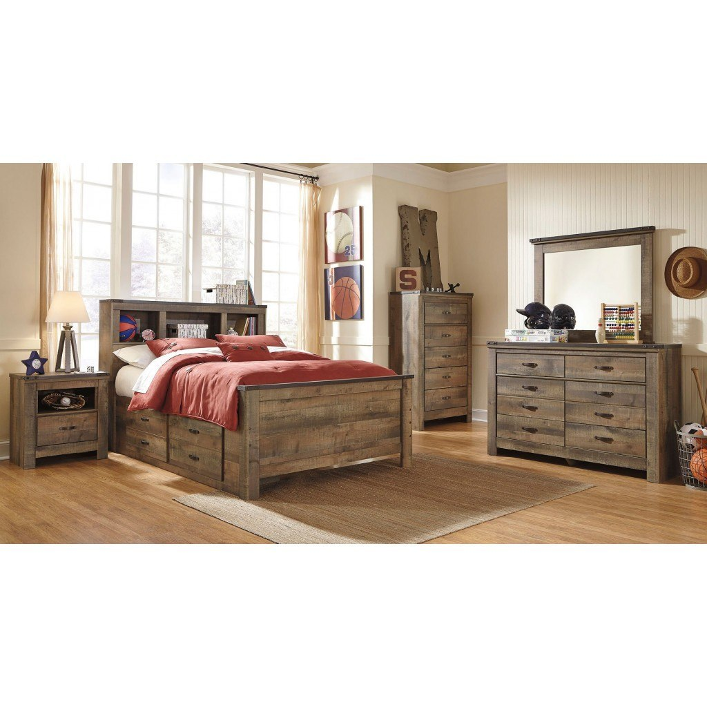 Trinell Youth Bookcase Bedroom Set Signature Design 2 Reviews Furniture Cart