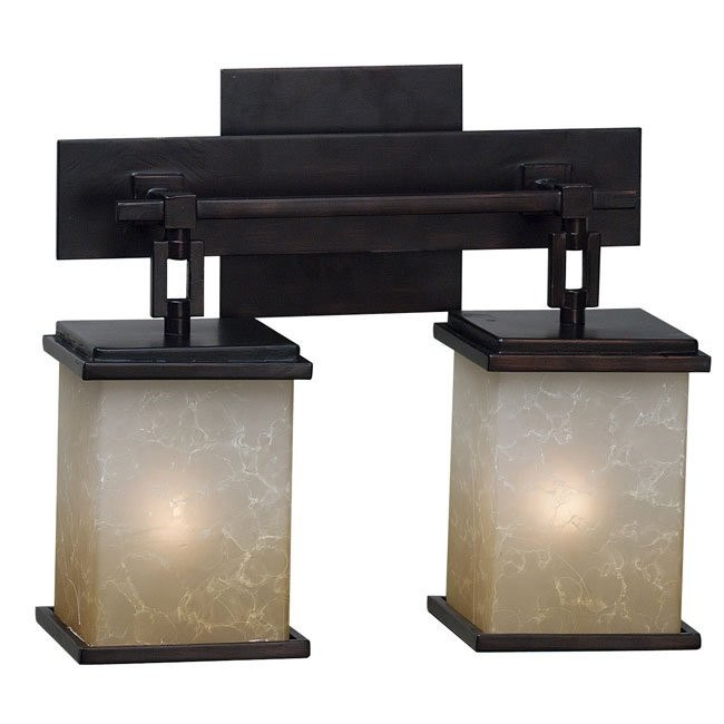 Plateau 2 Light Vanity (Oil Rubbed Bronze)