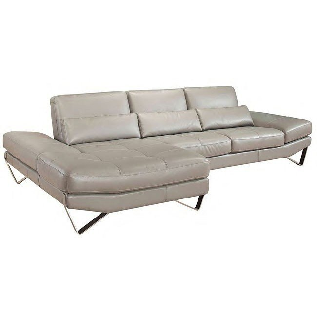 Nicoletti 833 Left Facing Leather Sectional