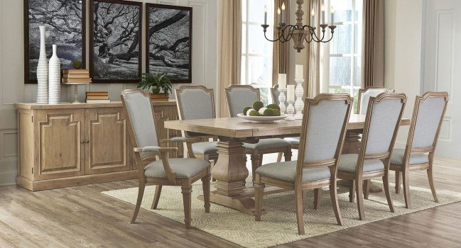 Florence Rectangular Dining Room Set w/ Vintage Chairs