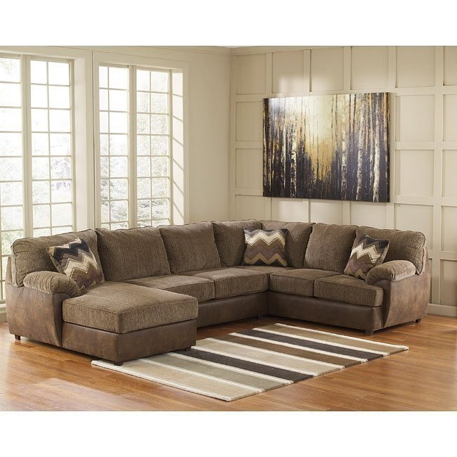 Cladio Hickory Left Chaise Sectional