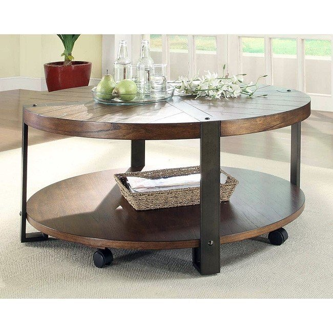 Northwood Round Cocktail Table w/ Casters