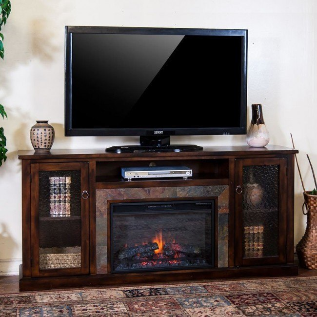 Santa Fe 70 Inch Fireplace Media Console
